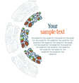 round ornament textual frame vector image vector image