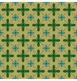 Flower and square seamless pattern vector image