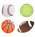four different ball vector image