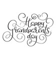 happy grandparents day text on white background vector image