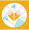 icon of origami children vector image