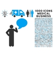 Man Idea Balloon Icon with 1000 Medical Business vector image