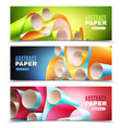 Paper roll banners set vector image