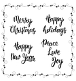 Christmas calligraphy phrases Merry christmas vector image