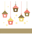 Colorful Birds houses isolated on white vector image
