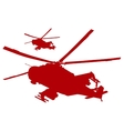 Helicopters vector image vector image