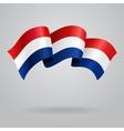 Dutch waving Flag vector image vector image