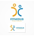 logo two fitness man vector image