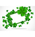 abstract background of st patrick day vector image vector image