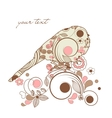 decorative spring bird vector image vector image