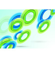 Background with transparent rings vector image