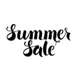 Black Summer Sale Lettering over White vector image