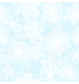 Blue and white snowflakes background vector image