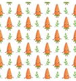 Cartoon vegetable character Carrot vector image