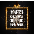 Christmas and Happy new year golden banner vector image