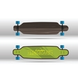 flat longboards isolated vector image