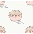 Hand drawn muffin seamless pattern vector image