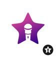 karaoke star logo vector image