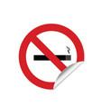 no smoking sign sticker vector image