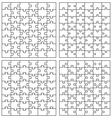 Set of puzzles vector image