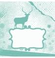 Santa Claus Deer vintage Christmas card EPS 8 vector image