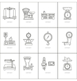 Trading scales icon vector image