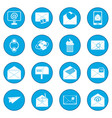 mail icon blue vector image