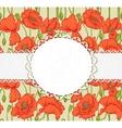 elegant vintage postcard with poppies vector image vector image