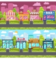 Shops and stores city street vector image