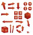 directional arrows vector image vector image