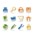 internet and computer icons vector image vector image