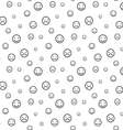 Smiley faces seamless pattern background vector image