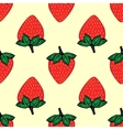 Red berries strawberry strawberry natural seamless vector image