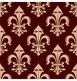 Royal fleur-de-lis brown seamless pattern vector image