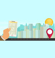 city navigation web banner flat vector image