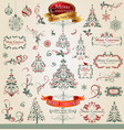 collection of ornamental christmas decorations vector image