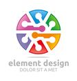 colorful element design symbol icon vector image
