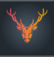 deer logo icon vector image