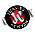 measles rubber stamp vector image