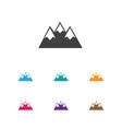 of travel symbol on peak icon vector image