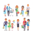 Shopping people set vector image
