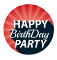 Vintage Happy Birthday Party retro vector image