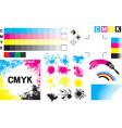 CMYK Concept Set vector image
