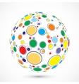 Globe consist of color circles vector image