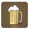 Beer Engraved vector image