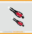 Athlete Trampoline Gymnast vector image vector image
