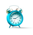 blue colored alarm clock vector image