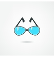 blue glasses vector image
