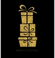 Gift box Christmas card vector image