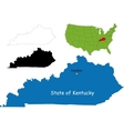 Kentucky map vector image